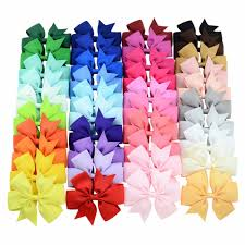 YHXX YLEN 20 <b>40pcs</b> Colors 3inch Grosgrain Ribbon Bows WITH ...