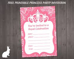 disney princess birthday invitation to and edit princess party invitation ruby and the rabbit