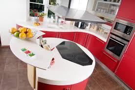 black appliance matte seamless kitchen: small curved corner modern kitchen in red
