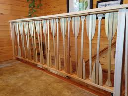 Custom Stair Railing My Custom Canoe Paddle Stair Railing My Husband Is So Creative