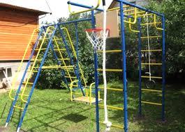 <b>Детские спортивные комплексы</b> с металлическими качелями ...