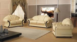 cleopatra cream italian leather living room sofa