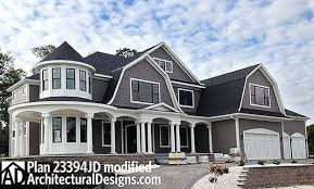 Plan JD  Luxurious Shingle Style Home Plan   House plans    Newport style luxury house plan JD being built in Minnesota  Almost   sq  ft  of living space   a beautiful rotunda stair