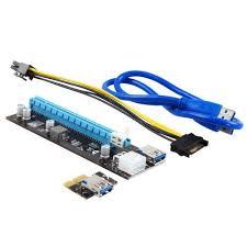 Купить <b>аксессуар</b> адаптер riser card mining gpu 200w+ pci-e 1x to ...
