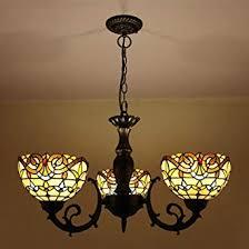 Tiffany Style Hanging <b>Ceiling Lamp</b>, European Pastoral 3 Head ...