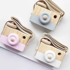 Cute <b>Nordic Style</b> Hanging Wooden Camera Toys Baby <b>Kids</b> Safe ...