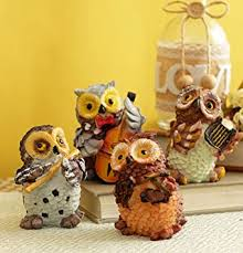 Buy Tied Ribbons Set Of 4 <b>Owls</b> Playing <b>Musical</b> Instruments ...
