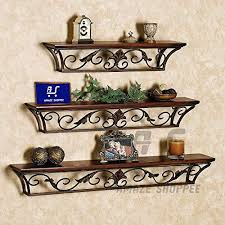 Amaze Shoppee Floating <b>Shelf</b>,<b>Creative Wrought Iron</b> Wall-Mounted ...