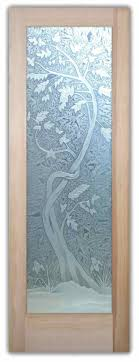 Interior Glass <b>door</b> - <b>Cherry Tree</b> 3D Carved Etched Glass <b>Door</b> ...