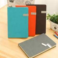 Business Office A4 <b>B5 A5 A6</b> A7 PU <b>Leather</b> Bound <b>Notebook</b> Cover ...