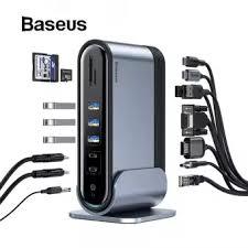 <b>Baseus 16</b> in <b>1 USB C</b> HUB <b>Type C</b> to Multi HDMI RJ45 VGA USB ...