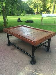 items similar to black iron pipe coffee table on etsy black iron pipe table
