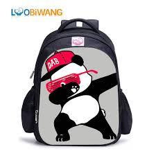 Online Shop LUOBIWANG Dabbing <b>Panda</b> Children Backpack <b>DAB</b> ...