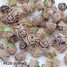 Buy PE20 : <b>72Pcs</b>/<b>lot</b> 2cm Silk <b>Flower</b> Artificial <b>PE</b> Foam <b>Rose</b> ...