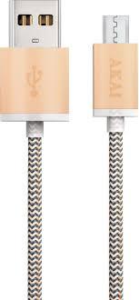 <b>Дата</b>-<b>кабель Akai</b>, CE-421Y, <b>USB</b>-<b>micro USB</b>, 1А, оплетка нейлон ...