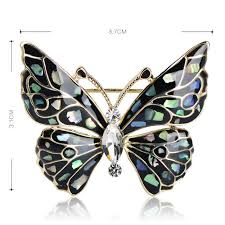 Blucome Fashion Blue Butterfly Brooch Clothes <b>Accessories</b> Gold ...