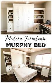 modern farmhouse murphy bed charming small guest room office ideas