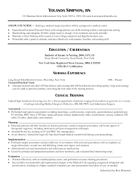 Resume Registered Nurse Nurse Resume Emergency Room Emergency