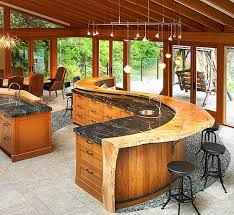 marvelous bar patio home outdoor fantastic design of the brown wooden kitchen drawers added with black
