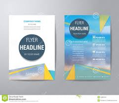 simple triangle and circle brochure flyer design layout template simple triangle and circle brochure flyer design layout template stock photos