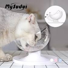 <b>Mysudui Anti</b> Slip Cats Bowl For Dogs Pet Dish Rounded Separable ...