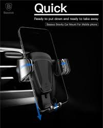 Baseus <b>Gravity</b> Car <b>Holder</b> For iPhone Samsung Cell <b>Mobile Phone</b> ...