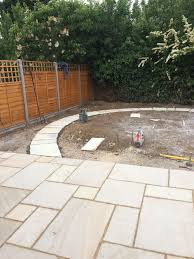patio renovation sandstone project as you will see from the photographs below the turf has now been laid