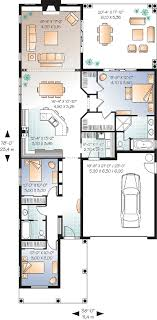 Narrow Lot Florida House Plan   DR   st Floor Master Suite    Floor Plan