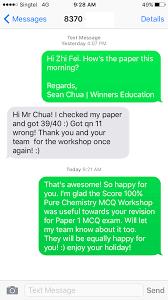 gce o level pure chemistry score % mcq mastery zhi fei