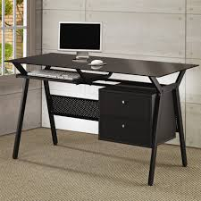 coaster shape home office computer desk office desk with glass top metal and glass modern computer black office desk office desk