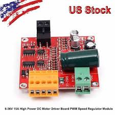 <b>6</b>-<b>36V 15A High Power</b> DC Motor Driver Board PWM Speed ...