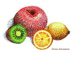 Resultado de imagen de puntillismo frutas primaria