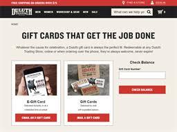 Duluth Trading Company | Gift Card Balance Check | Balance ...