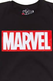 Футболка MISTER TEE <b>Marvel Logo</b> Tee Black купить в интернет ...