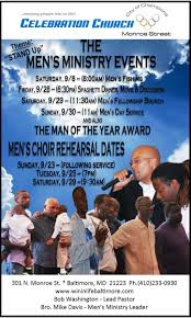 celebration church monroe street baltimore maryland mens ministry events flyer