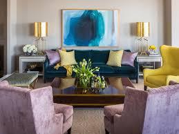 contemporary living room design red flower drop