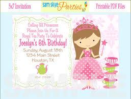 kids birthday party invitation template invitations ideas kids birthday party invitation template
