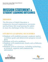 adult education mission statement mission statement