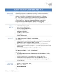 system administrator resume samples templates and tips system administrator resume