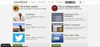 learn to code learnstreet javascript python ruby is