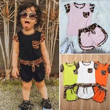 <b>1 6Y Summer Toddler</b> Kids Baby Girl Clothes Sets Short Sleeve Top ...