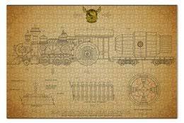 """Пазлы c эксклюзивными принтами """"<b>локомотив</b>"""" - <b>Printio</b>"""