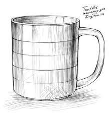 Как нарисовать <b>кружку</b> карандашом поэтапно 4   Карандаш ...