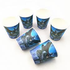 <b>10pcs</b>/lot paper <b>cup Cartoon Batman</b> Avergers Super hero Kids ...