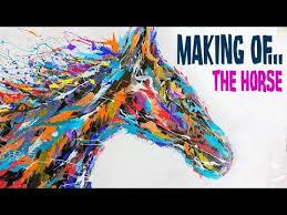 Acrylic <b>Horse Painting Abstract</b> - Equestrian <b>Art</b> - YouTube