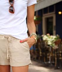 Lightweight, linen <b>shorts</b>. They can be dressed up or down and ...