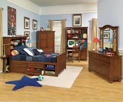 best quality ashley kid bedroom furniture set ideas for children boy headlining baywood maple single bed with full storage and bookcase on headboard placed boy girl bedroom furniture