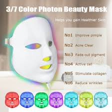 Beauty Star 7 Colors <b>LED Facial Mask Led Photon</b> Therapy Face ...
