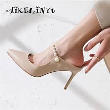 <b>AIKELINYU Summer</b> Pointed Toe Sexy Super High Heeled <b>Women</b> ...