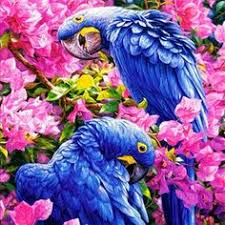Parrots <b>Diamond Embroidery</b> Kit <b>DIY</b> Diamond Painting | Cross ...